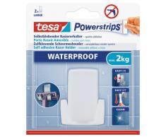 tesa Rasiererhalter, wasserfest für Dusche und Bad, weiß, wieder ablösbar