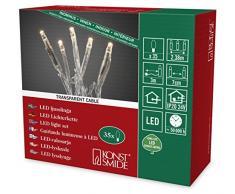 Konstsmide 6352-123 Micro LED Lichterkette / für Innen (IP20) / 24V Innentrafo / 35 warm weiße Dioden / transparentes Kabel