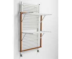 ARREDAMENTI ITALIA Wäscheständer für Heizkörper Klaus, Holz - klappbar - 10 mt Leine - Farbe: Kirsche Holz AR-It Il Cuore Del Legno