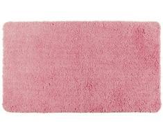 Wenko 22330100 Hochflor Badteppich, Polyester, blush rosa, 120 x 70 x 0,5 cm