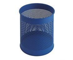 V-Part Papierkorb aus Metall perforiert 15 Liter, blau