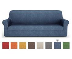 PETTI Artigiani Italiani - Sofaüberwurf, Sofabezug, Sofaüberwurf Blau, Sofabezug 1 Sitzer, Jacquard Stoff, 100% Made In Italy
