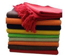 GMMH Fleckerlteppich Baumwolle Handweb Teppich Flickenteppich Fleckerl Handwebteppich (45 x 70cm, rot)