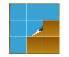 FoLIESEN Fliesenaufkleber für Bad und Küche - 20x20 cm - lichtblau glänzend - 20 Fliesensticker für Wandfliesen