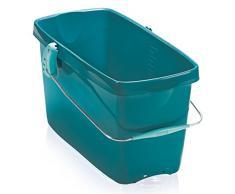 Leifheit Eimer Combi XL mit 20 L Fassungsvermögen für große Bodenflächen, standfester Putzeimer in eckiger Form, vielfältig kombinierbarer Wascheimer mit Metallhenkel