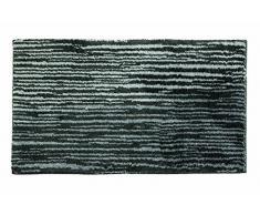 SCHÖNER WOHNEN-Kollektion, Mauritius, Badteppich, Badematte, Badvorleger, Design Streifen - anthrazit, Oeko-Tex 100 zertifiziert, 60 x 60 cm