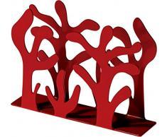 Alessi MEDITERRANEO Serviettenhalter aus Edelstahl, epoxidharzlackiert, rot