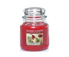 YANKEE CANDLE 1305819E Classic-Cranberry Pear Duftkerze Glas 9,50 x 9,50 x 13,80 cm, rot
