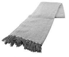 Baumwolle Überwurf in grau 170 cm x 200 cm