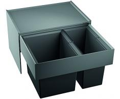 Blanco Select 60/2, Müllsystem zur Abfalltrennung für den 60 cm-Unterschrank, mit 2 Abfalleimerrn aus schwarzem Kunststoff (30 l/19 l), zur Montage an der Fronttür, 1 Stück; 518723
