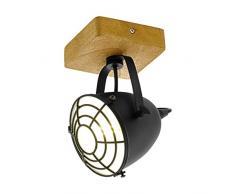 EGLO GATEBECK Spot, Deckenleuchte 1-flammig, Holz, 40 W, natur