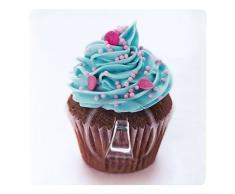 WENKO 4369800100 Static-Loc Wandhaken Uno Cupcake - Befestigen ohne bohren, Kunststoff, Mehrfarbig