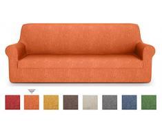 PETTI Artigiani Italiani - Sofaüberwurf, Sofabezug, Sofaüberwurf Orange, Sofabezug 1 Sitzer, Jacquard Stoff, 100% Made In Italy