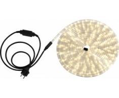 Globo Lichtschlauch mit 1.5 m Zuleitung und Stecker in schwarz inklusiv 24 LEDs je Laufmeter, 9 m, warmweiß 38972