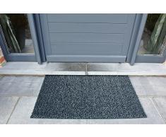 AstroTurf Classic Fußmatte, Fußabstreifer Eingangsmatte für Innen- und Außenbereich, Unvergleichliche Reinigungsleistung Polyethylen Schiefergrau 90x55x2 cm