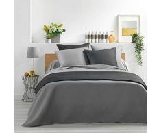 Douceur dIntérieur Tagesdecke für Doppelbett, gesteppt, 60 x 60 cm, Anthrazit, 220 x 240 cm, grau, 240 x 260 cm