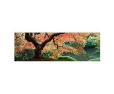 WTD 40982 Leinwandbild No.36 Japanischer Garten 120 x 40 cm