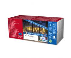 Konstsmide 4610-503 LED Hightech System Erweiterung / Lichterkette / für Außen (IP44) / 50 bunte Dioden / transparentes Kabel