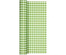 Home Fashion Tischläufer Tl Karo Grün 490 x 40 cm, Mehrfarbig, Einheitsgröße