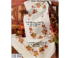 Vervaco Tischläufer Herbst bedruckte Decke/ Läufer mit Webrand, Baumwolle, Mehrfarbig, 40.0 x 100.0 x 0.30000000000000004 cm, 1 Einheiten