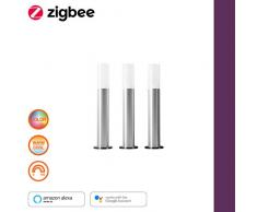 LEDVANCE Smart+ LED Gartenleuchte Erweiterung, ZigBee, warmweiß bis tageslicht, dimmbar, Schutzklasse IP65, 3 Spots, Nur kompatibel mit dem Smart+ LED Gartenpylonen Basispaket