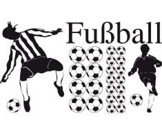 Graz Design 770078_100x57_070 Wandtattoo Set Kinderzimmer Fußball Bälle mit Fußballspieler Jungs