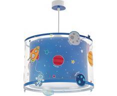 Dalber Kinder Hängelampe Planeten Raum, Plastik, Blau, 33 x 33 x 25 cm
