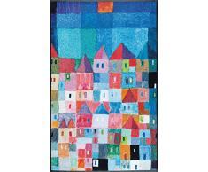 Wash + Dry Colourful Houses Fußmatte, Acryl, bunt, 75x120x0.7 cm