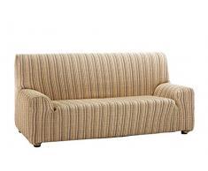 Martina Home Mejico Sofabezug, elastisch 3 Plazas, 180 a 240 cm de ancho Vergoldet