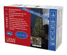 Konstsmide 3657-807 Micro LED Kompakt System Erweiterung: Lichterkette / für Außen (IP44) / VDE geprüft / 100 bernsteinfarbene Dioden / schwarzes Softkabel