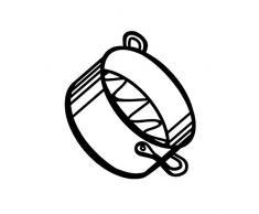 Monkey Business Sketch Pan Untersetzer , weiß
