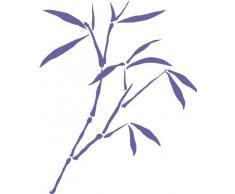 INDIGOS 4051095041825 Wandtattoo w335 Schilf Gras Wandauskleber in 3 Größen, 120 x 97 cm, violett
