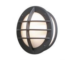 Konstsmide Oden 515-752 Wandleuchte / B: 31cm T: 15cm H: 31cm / 1x60W / IP23 / lackiertes Aluminium / matt-schwarz