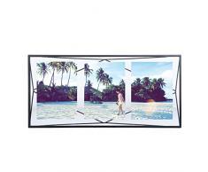 Umbra Prisma Bilderrahmen Collage 13 x 18 cm – Wand- und Tisch Multi-Fotorahmen für 3 Bilder, Fotos, Kunstdrucke, Illustrationen, Graphiken und Mehr, Metall / Glas, Schwarz