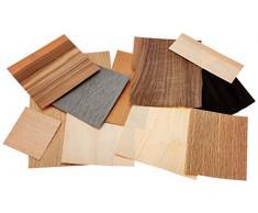 Backform Master sortiert Furnier Holz, braun, 100Â g, 21Â x 3Â x 19Â cm, Ausschnitte