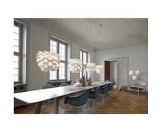 Nordlux Pendelleuchte, Kunstroff, Durchmesser 50 x 40,5 cm, EEK A++ - D, E27, weiß 78313001