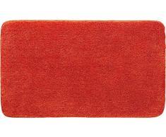 Grund Badteppich 32 mm 100% Polyacryl, ultra soft, rutschfest, ÖKO-TEX-zertifiziert, 5 Jahre Garantie, LEX, Badematte 50x80 cm, orange