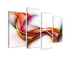 Visario Leinwandbilder 6159 Bild auf Leinwand Fantasie, 130 x 80 cm, 4 Teile