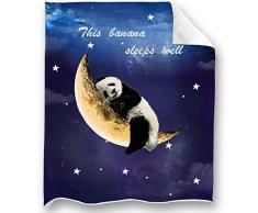 Loong Design Faultier-Überwurf, super weich, flauschig, Premium Sherpa-Fleece-Decke, 127 x 152 cm, für Sofa, Stuhl, Bett, Büro, Reisen, Camping, Geschenk 50x 60 Panda