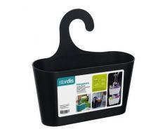 Duschkorb schwarz mit Haken zum Einhängen Duschregal Badregal Bad Utensilo Hängeregal