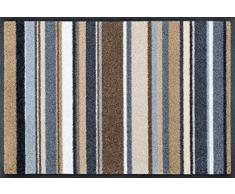 wash + dry 079347 Stripes nature Fußmatte, Acryl, 40 x 60 x 0,7 cm, bunt