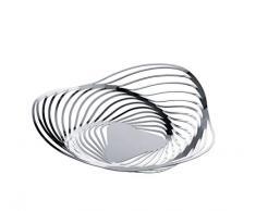 Alessi Trinity Korbschale aus Edelstahl 18/10 glänzend poliert ᴓ 26,0cm, 12 x 27 x 12.5 cm