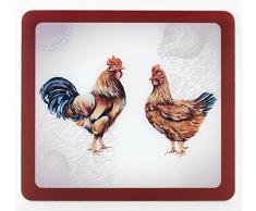 Wenko 2712971500 Multi-Platte Farm für Glaskeramik Kochfelder, Schneidbrett, Gehärtetes Glas, 56 x 0,5 x 50 cm, Mehrfarbig