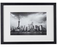 Amaris Elements | Shanghai Foto-Kunst von der Großstadt Shanghai in schwarz weiß, Wandbild 40x30x5 cm