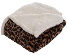 Lavish Home Überwurf Decke – Fleece/Sherpa leopard