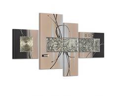 Bilderdepot24.de 45044a Abstrakte Kunst handgemaltes Leinwandbild, 120 x 70 cm, 4-teilig 3030