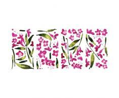 RoomMates Wandsticker, Motiv Fuchsien, wiederverwendbar, Pink
