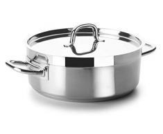 Lacor 54036 Bratentopf mit Deckel Durchmesser 36 cm Chef Luxe