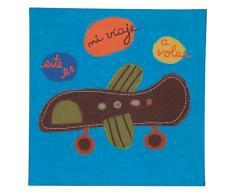 TRÄ PRESENT TR003809 Kinderzimmer Bild Flugzeug, 28 x 28 cm