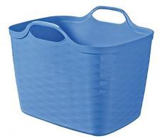 Curver 6302086Â Flexi Basket Aufbewahrungskorb, Kunststoff blau 43Â x 35Â x 33Â cm 27Â L